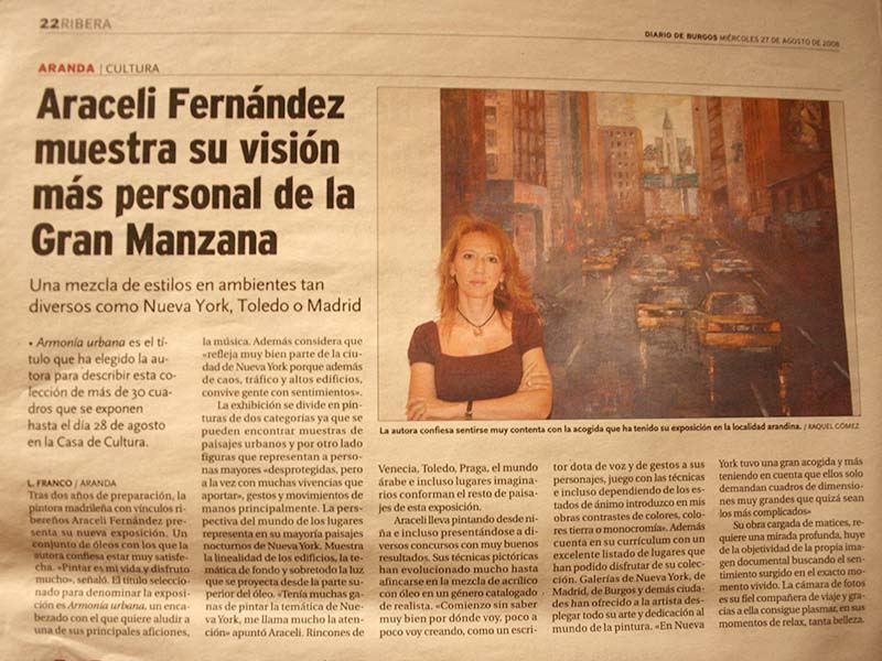 Publicación Diario de Burgos