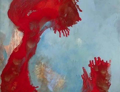 """""""Meandro Rojo"""" 86 x 64 Técnica Mixta/Tabla"""
